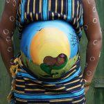 Babybauch bemalen Motiv Idee